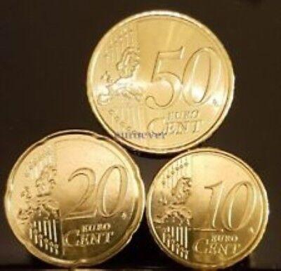 Letland  2014    10 - 20 en 50 cent    UNC uit de rol    UNC du rouleaux !!!