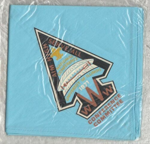 H947 BSA OA Scouts - 1971 NOAC - CONFERENCE COMMITTEE NECKERCHIEF