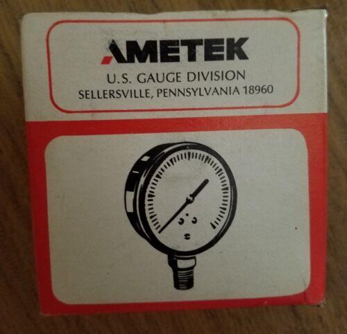 """New USG Ametek Gauge # E36 - 2-1/2"""" Dial P-500, 1/4""""NPT 160 PSI # 051375 CBM"""