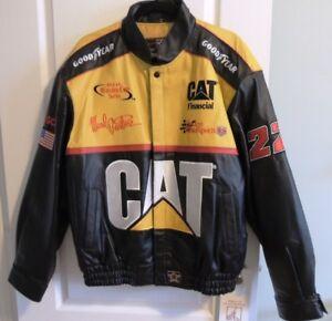 NASCAR Leather Bomber-Style Jacket - Vintage