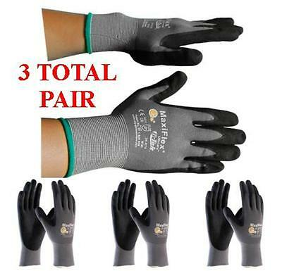 G-tek Maxiflex Ultimate 34-874 Pip Seamless Knit Nylon Gloves - 3 Pairs Sm-xl
