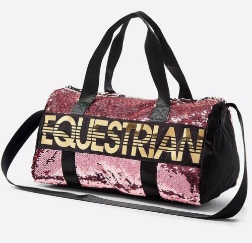 NWT Justice Girl Equestrian Flip Sequin Duffle Bag Tote Bag Horse Christmas Gift