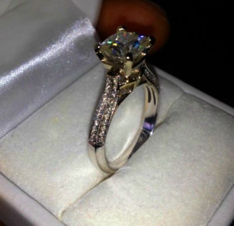 real 14k solid white gold 2.45... Image 4