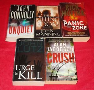 5x Male author assorted paperback novels