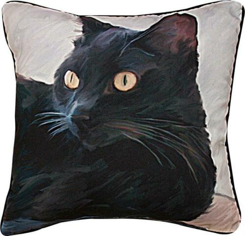 BLACK CAT PORTRAIT PILLOW