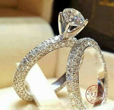 Cubic Zirconia Brilliant Cut Engagement Ring Set & Gift Box (Ships Same Day!)