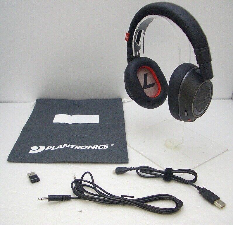Plantronics Voyager 8200 Uc Bluetooth Wireless Noise Canceling Headphones Black Ebay