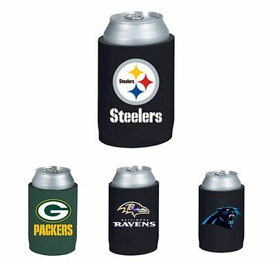 NFL Football Beer Can Collapsible Holder Koozie Neoprene Cooler -Pick your team!