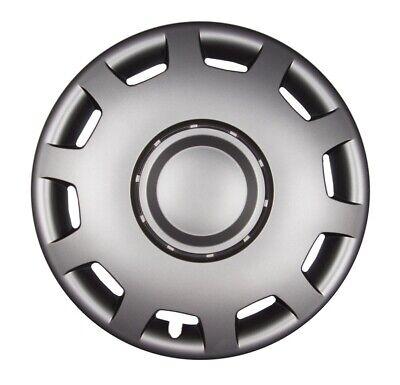 """4x PREMIUM DESIGN Radkappen Radzierblenden /""""Gral/"""" 15 ZOLL #21 Schwarz Chrom Ring"""