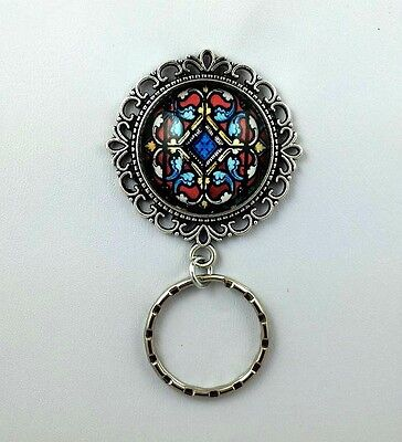 Stained Glass Magnetic Badge Eyeglass Holder,  Magnetic Pin Brooch,  Design #1