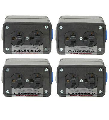 4pk Powercon Rubber Quad Box Power Distribution Twist-lock Distro Link