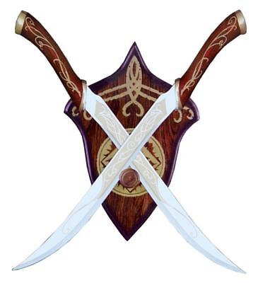 Lord of the Rings Legolas Fighting Knives Red Or Black Elven LOTR Swords - Legolas Swords