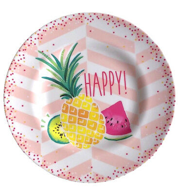 Tropical Plates (Tropical Pineapple Melamine Plates 8.5