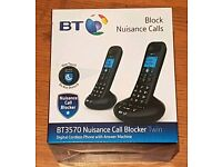 BT 3570 Twin Digital Cordless Answerphone With Nuisance Call Blocking