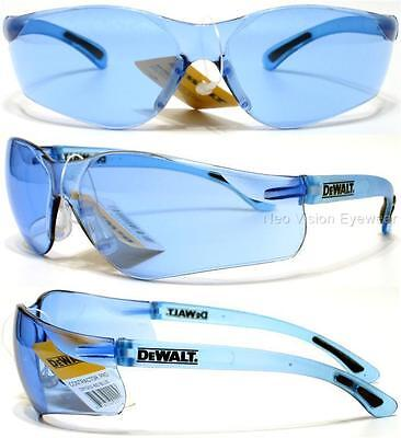 Lot Of 3 Pair Dewalt Contractor Blue Lens Safety Glasses Sunglasses Z87