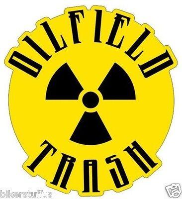 Oilfield Trash Radioactive Helmet Sticker Hard Hat Sticker Laptop Sticker
