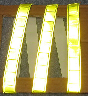 Lime Gloss Reflective Tape Pvc Sew On Material 3x1