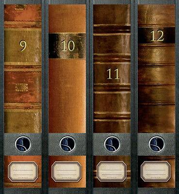 Ordnerrücken Bücher 9 -12 Lexikon Ordner Ordneraufkleber Aufkleber Deko 313