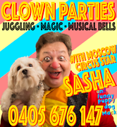 Sasha the Clown - Kids Party Clown Sydney City Inner Sydney Preview