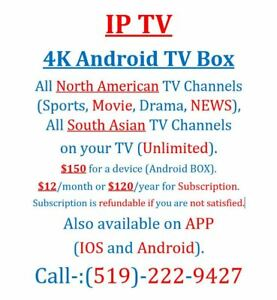 IPTV 4K(Ultra HD) Android TV Box