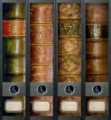 Ordnerrücken Bücher 5 - 8 Lexikon Ordner Ordneraufkleber Aufkleber Deko 312