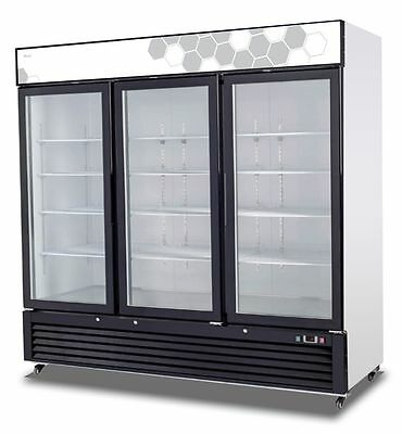 Migali Commercial Three Glass Door Freezer Merchandiser C-72fm