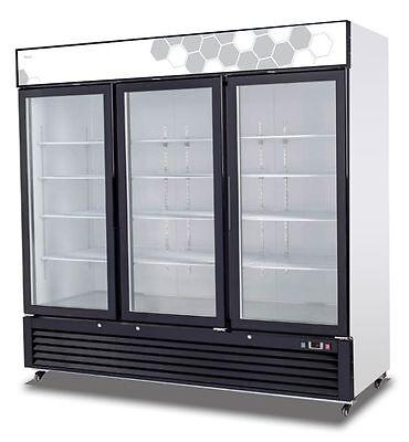 Migali Commercial Three Glass Door Freezer Merchandiser C-72fm