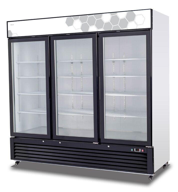 Migali C-72FM-HC Commercial Three Glass Door Freezer Merchandiser