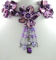 STUNNING PURPLE MOTHER-OF-PEARL BEADS necklace