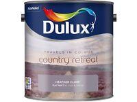 Dulux Flat Matt 2.5L Paint Various Colours Available For Walls & Ceilings