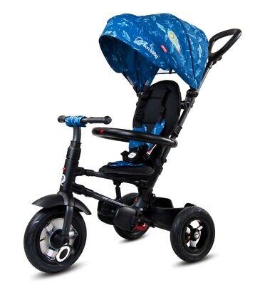 Kinderwagen klappbar Dreirad Kinderfahrad für Kinder 1-3 Jahre Joggy blau
