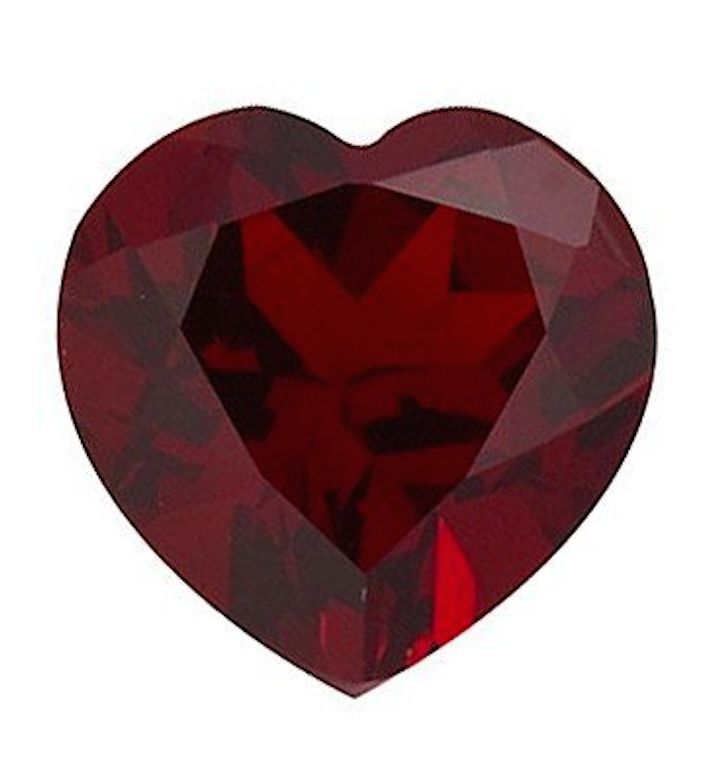 Genuine Natural Mozambique Garnet AAA Heart Faceted Loose Stones (3x3mm-10x10mm)