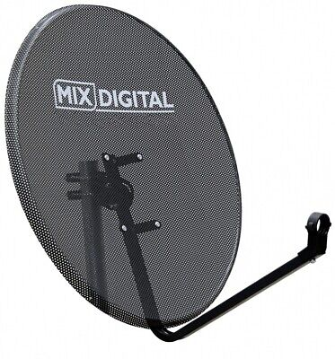 80cm Mesh Satellite Dish with Pole Mount Fittings Freesat TV Hotbird Astra for sale  Shipping to Nigeria