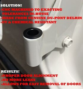 JEEP Delrin Door Hinge Liners For 2007+ JK Unlimited 4-DOOR Saguenay Saguenay-Lac-Saint-Jean image 1