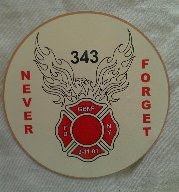 91101 Never Forget 343 GBNF Decal  Gone But Not Forgotten