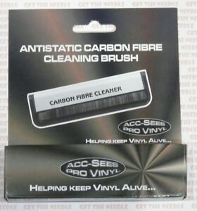Acc-Sees Carbon Fibre Fiber Anti static Vinyl Record Cleaner Brush