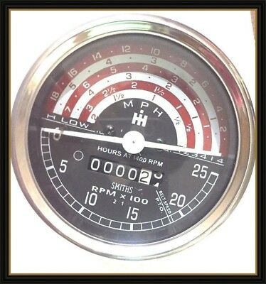 Ih International Tractor Tachometer For-b250-b275-b414-276-354-434-444