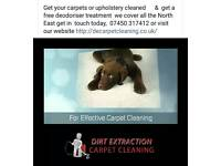 Dirt Extraction Carpet cleaning*get a free bottle of deodoriser treatment *