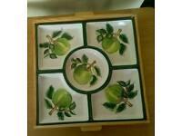 Italian Antipastiera Ceramic Dish Set