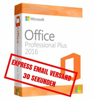 Microsoft Office 2016 Professional Plus - Vollversion Original Business - Pro