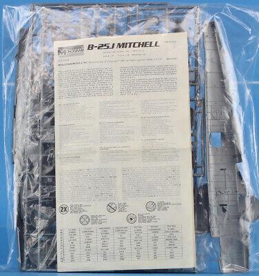 Monogram 1:48 B-25 J Mitchell Plastic Aircraft Model Kit #5502U