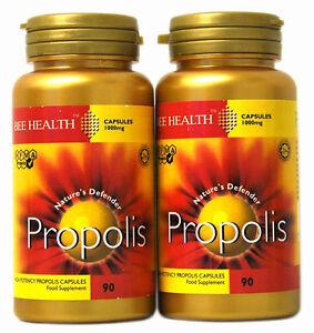 2 x Bottls Bee Health PROPOLIS 1000mg x 90 Capsules healthy immune system