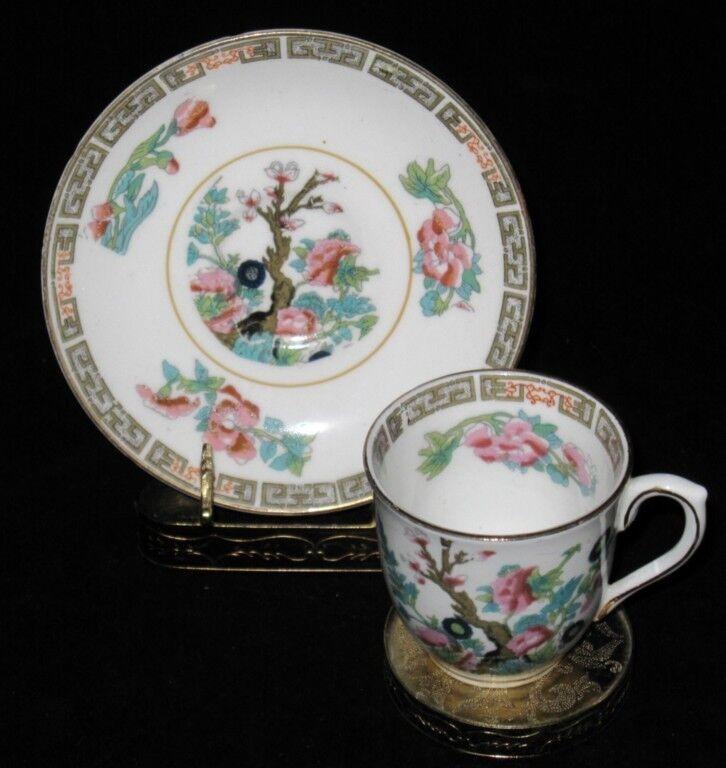 Colclough China, INDIAN TREE, Demitasse Cup & Saucer Set