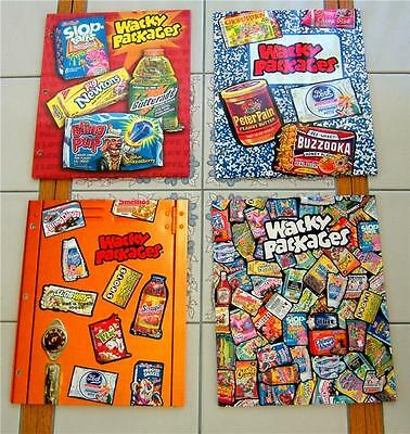 Wacky Packages * ALL 4 * BINDER POCKET FOLDERS