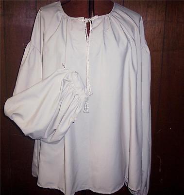 Pirate Shirt Custom Made Mens Poet Sca Renaissance White Extra Large