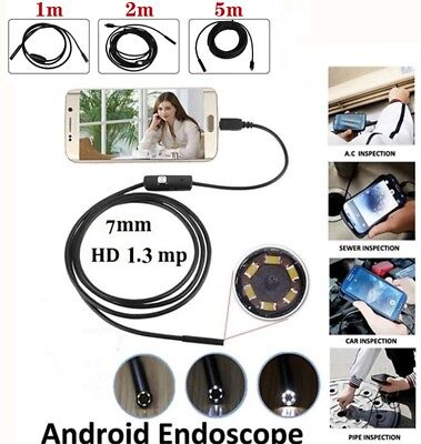 3 In 1 Usb Type C Endoscope Borescope 7mm Inspection Hd Camera For Android Pc