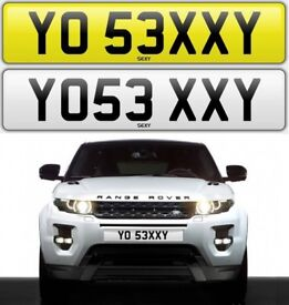 YO SEXY private number plate cherished personalised number plate car reg - YO 53XXY