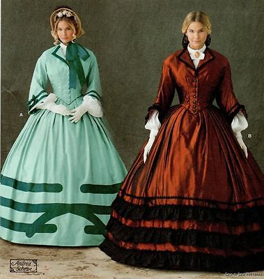 Simplicity 1818 SEWING PATTERN 8-14 Civil War Dress/Gown Jacket Skirt Chemisette