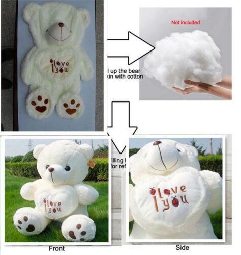 Teddy Bear Plush 50cm Giant Large Huge Big Soft Toys Doll Gift White Only Cover
