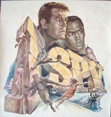 I SPY NBC POSTER 1966 VINTAGE RARE ROBERT CULP BILL COSBY REHBERGER Art